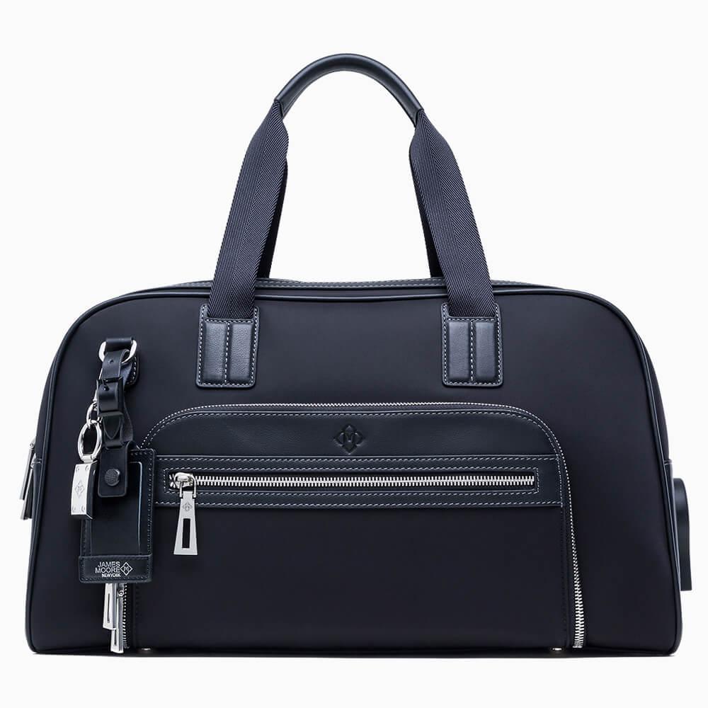 JMNY Atlas travel bag in black satin