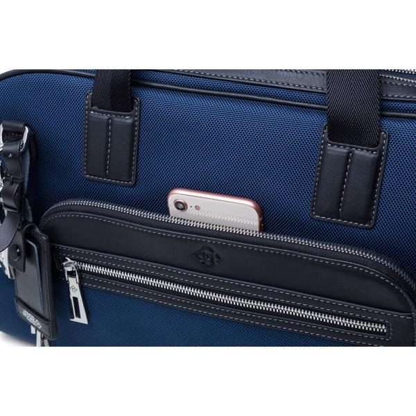 JMNY-Atlas-ネービーブルーの前隠されたポケットの旅行バッグ