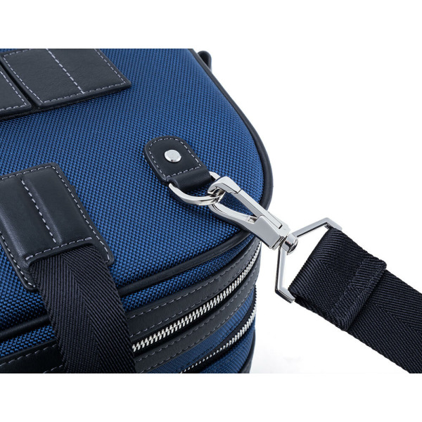 JMNY-Atlas-旅行バッグインのネイビーブルーハードウェア