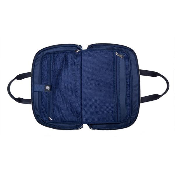 JMNY-Atlas-旅行バッグインのネイビーブルー挿入バッグ