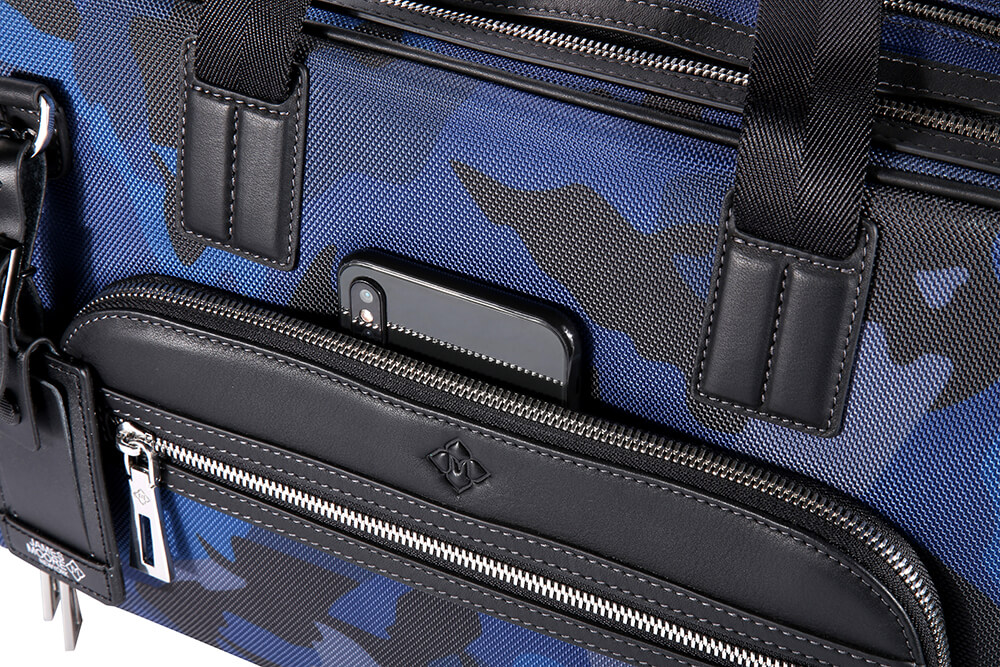 JMNY atlas travel bag blue camouflage