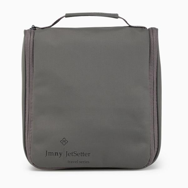 "JMNY-jetset-""L""-hanging-toiletry-case-gray"