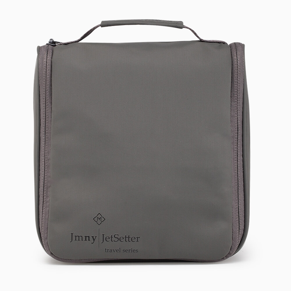 hanging toiletry case gray