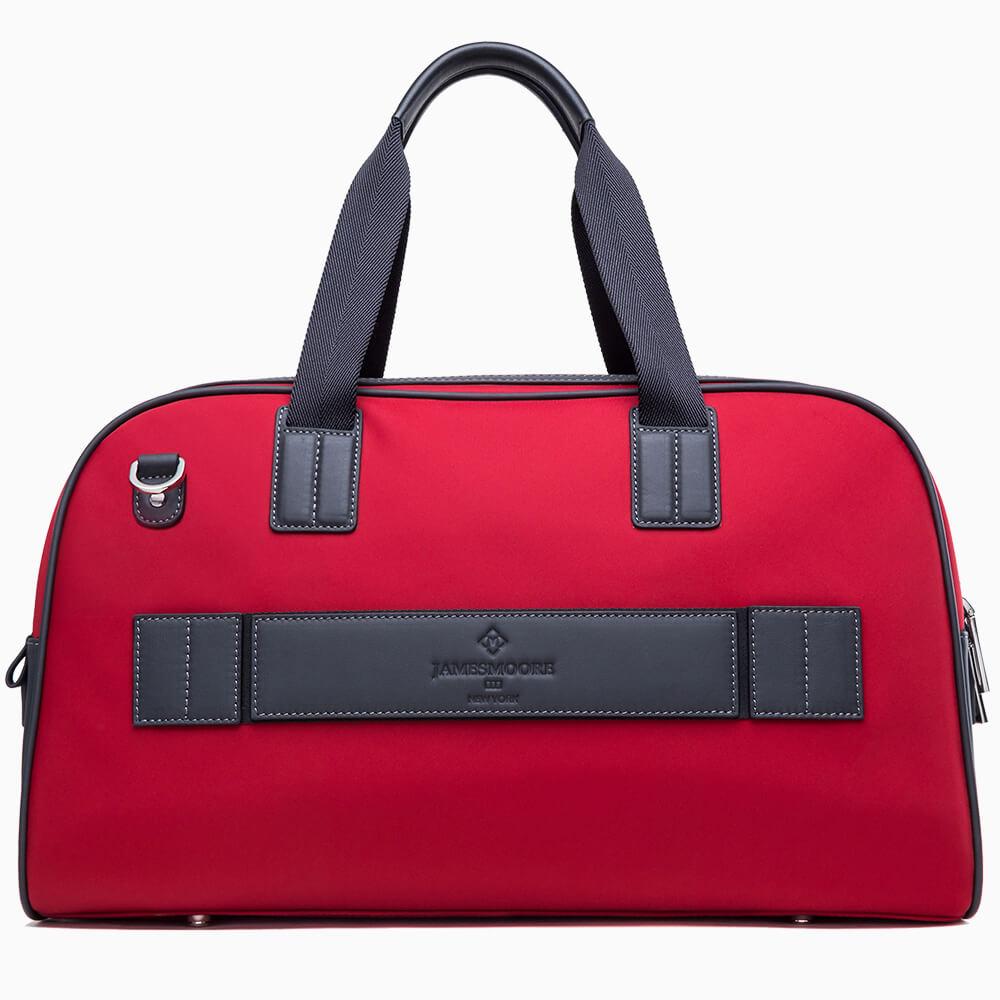 jmny atlas travel bag in burgundy