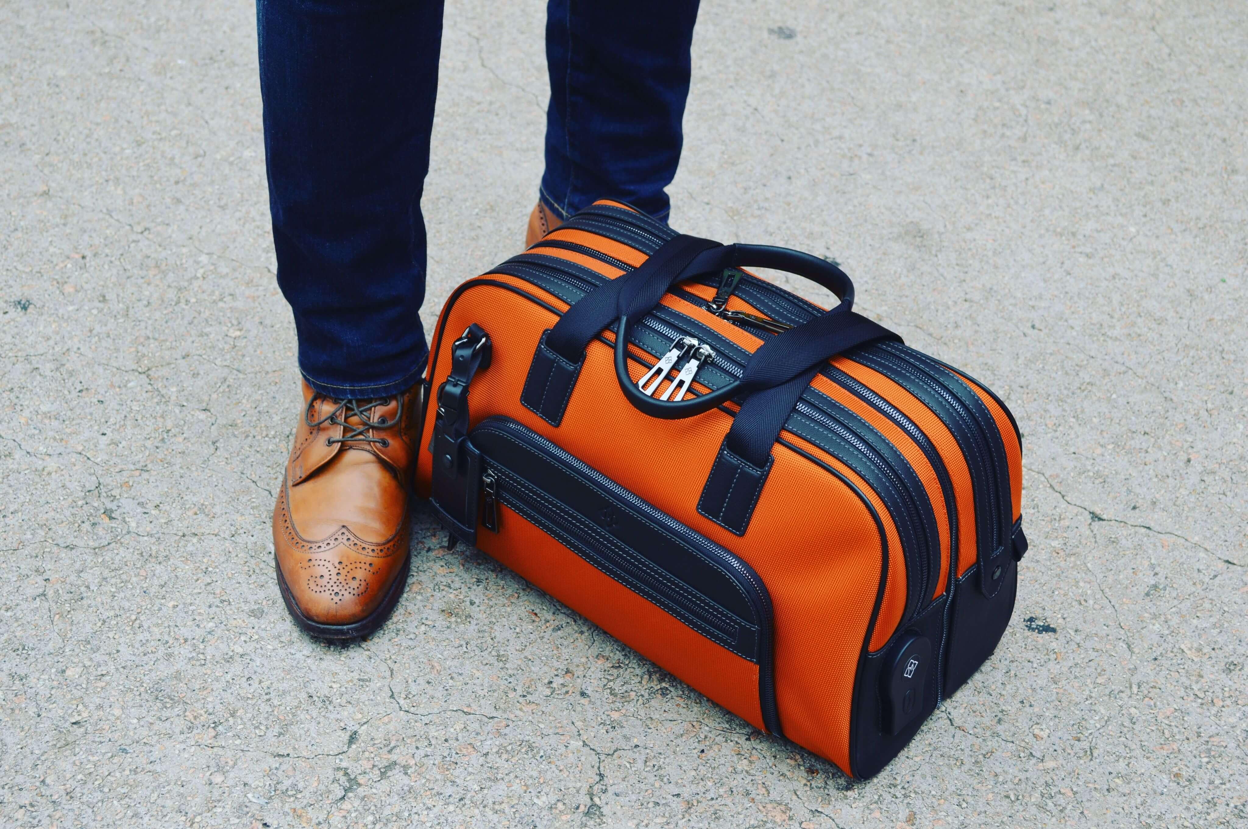 Atlas Travel Bag in Orange