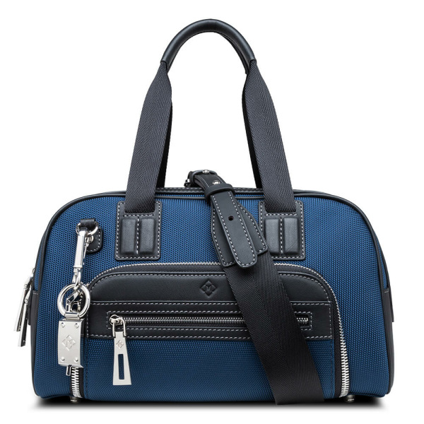 Atlas Mini Travel Bag Blue_with belt