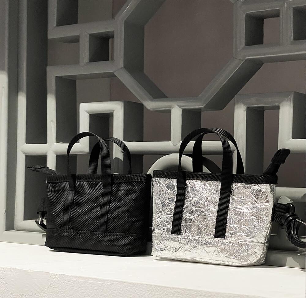 Atlas Travel Bag & Kyoto Mini Cate Tote Bag Window show side 1