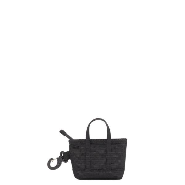The Mini Kyoto Zip Bag in Black Nylon_Front 1