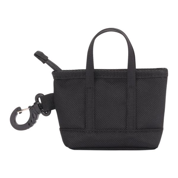 The Mini Kyoto Zip Bag in Black Nylon_Front 2