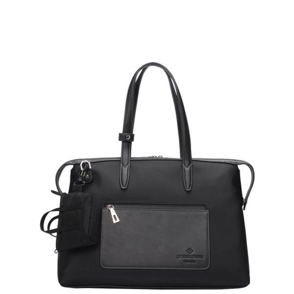 The Mini Kyoto Zip Bag in Black Nylon_Front