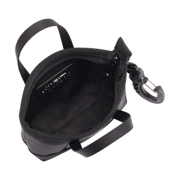 The Mini Kyoto Zip Bag in Black Nylon_inside 1