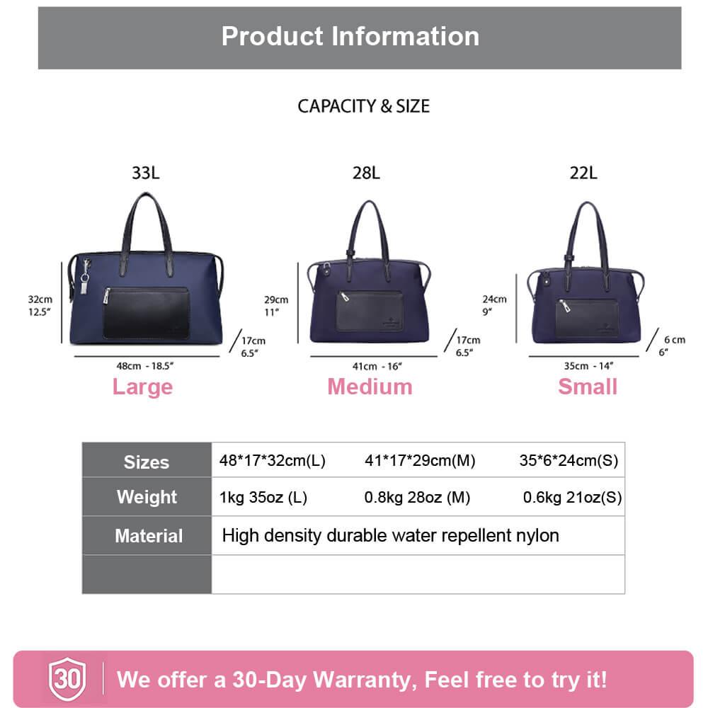 Kyoto Travel Tote Bag size