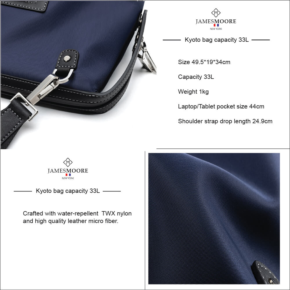 Kyoto unisex Travel Tote Bag high quality nylon leather materials