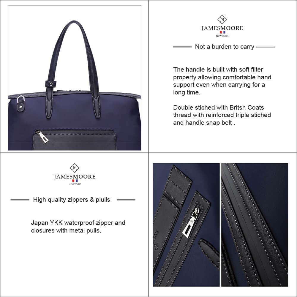 Kyoto unisex Travel Tote Bag high quality zipper & pulls